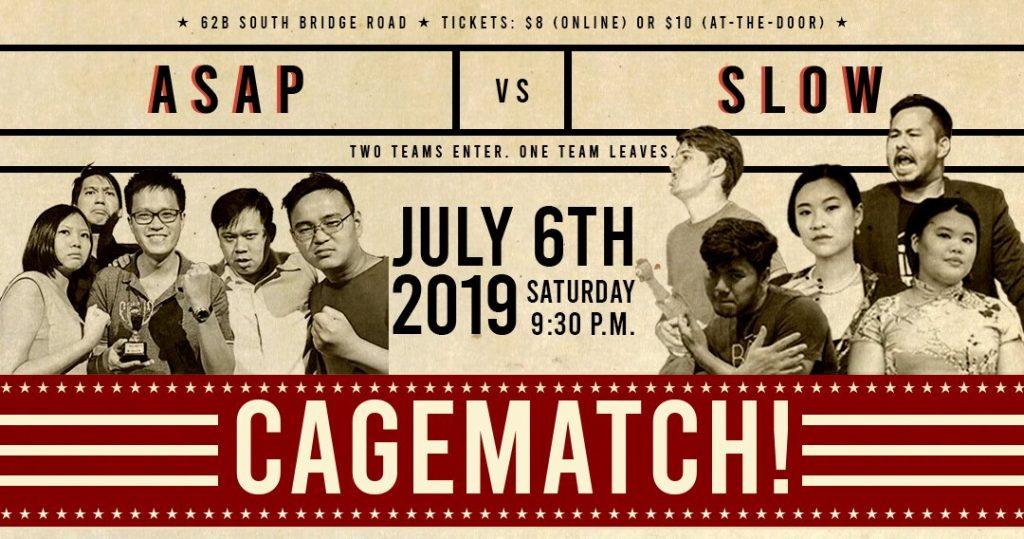 July 2019 improv shows, events in Singapore - Singapore Improv Calendar